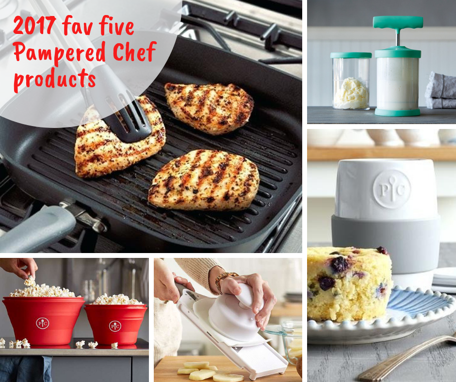 2017 fav five Pampered Chef products. cats cocktails crafts