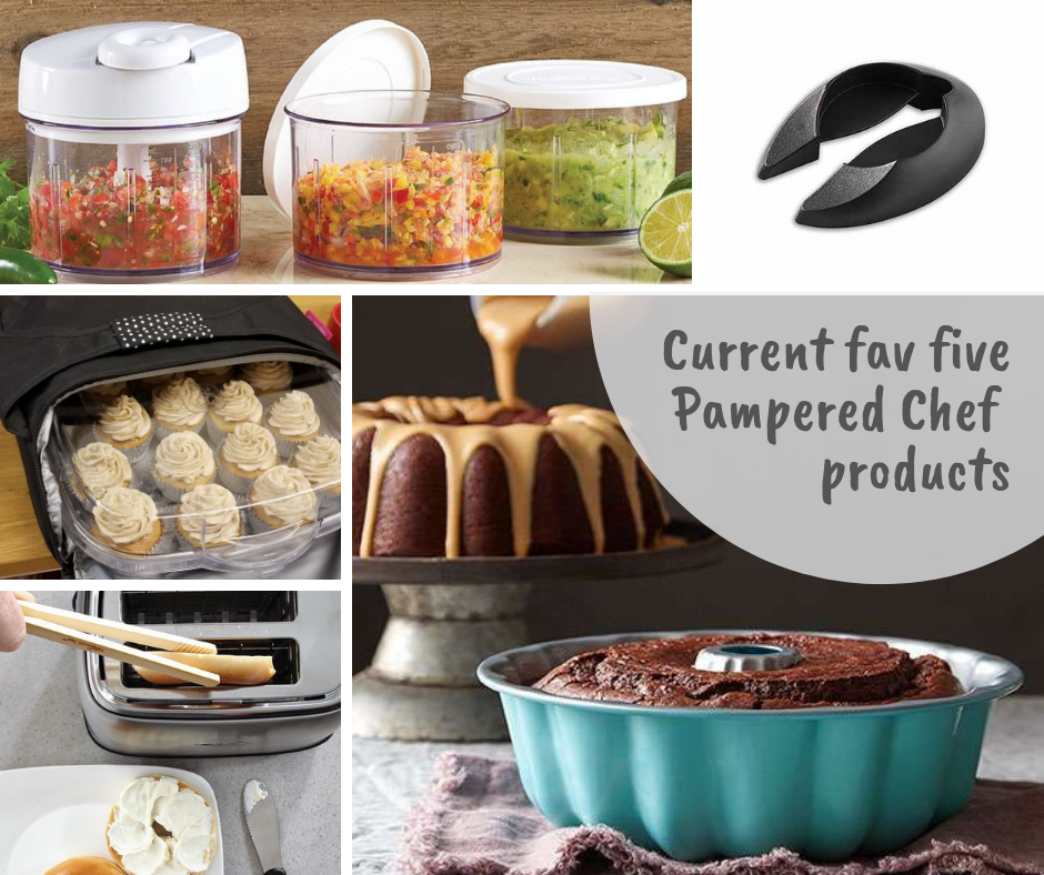 Current fav five Pampered Chef products. cats cocktails crafts